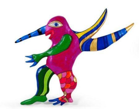 Niki de Saint Phalle-Mysterious Bird, Pink (Remenbering)-2000