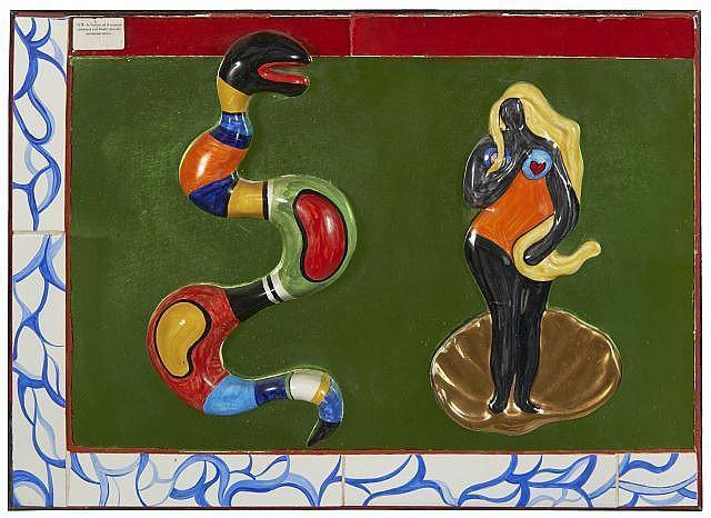 Niki de Saint Phalle-Snake and Nana-