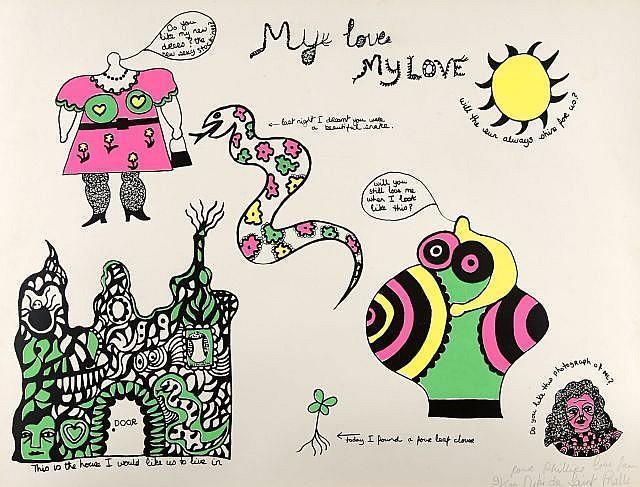 Niki de Saint Phalle-My Love My Love-1968