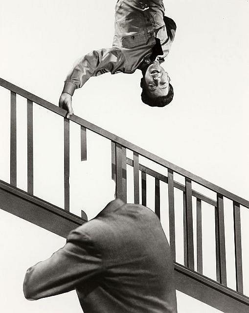 John Baldessari-Stairway, Coat and Person-2011