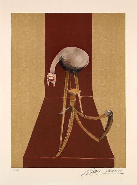 Francis Bacon-Deuxieme version du triptyque-1989