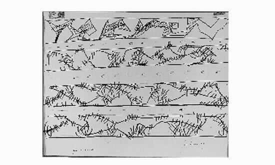 Lucio Fontana-Parete spaziale-1949