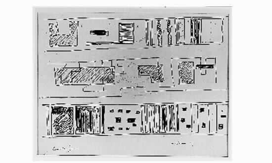 Lucio Fontana-Concetto spaziale-1949