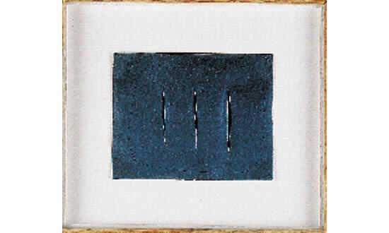 Lucio Fontana-Sans titre-1959
