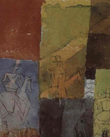 Paul Klee-Mit Den Vier Reitern (With The Four Riders)-1915