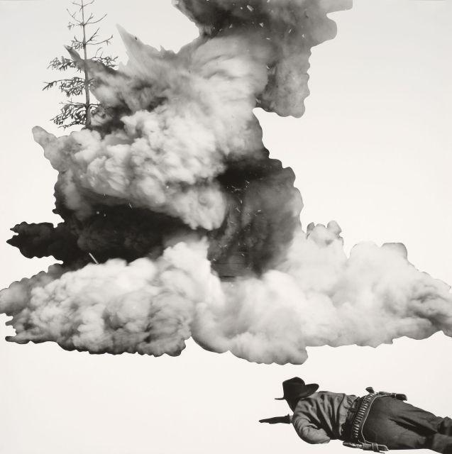 John Baldessari-Smoke, Tree, Shadow and Person-2011