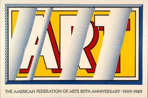 Roy Lichtenstein-Art (The American Federation Of Arts 80th anniversary)-1989
