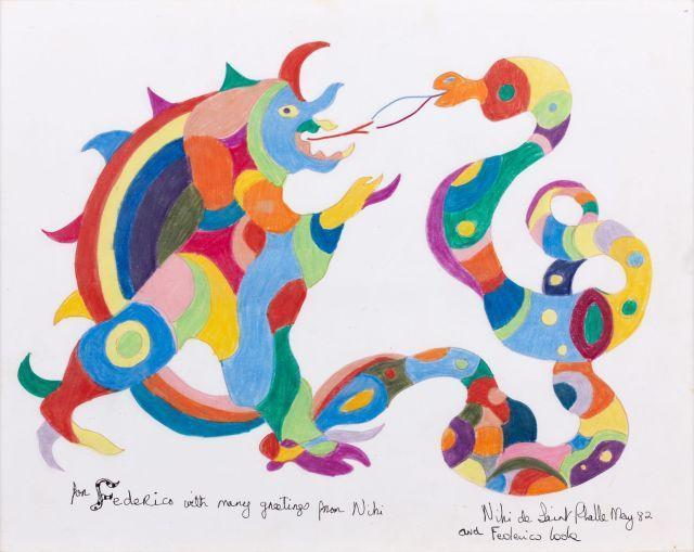 Niki de Saint Phalle-Dragon and snake-1982