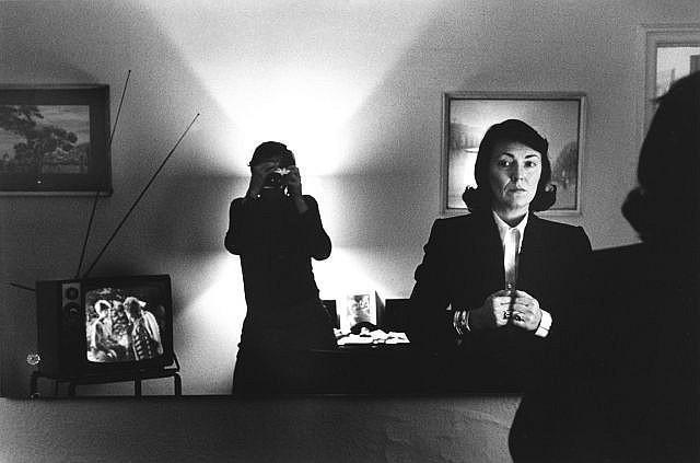 Helmut Newton-Self-portrait with June Hotel Volnay, New York-1982