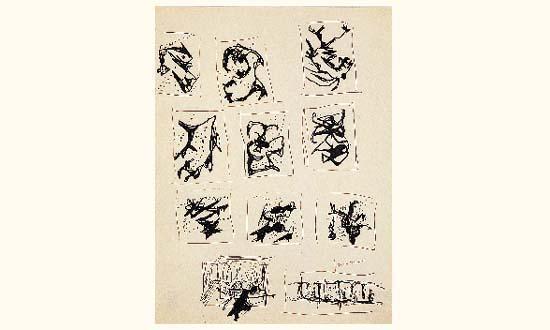 Lucio Fontana-Composition-1951