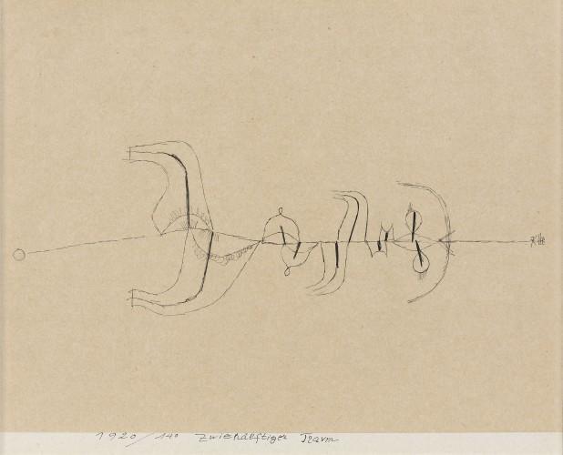 Paul Klee-Zwiehalftiger Traum (Deux sequences dun reve)-1920