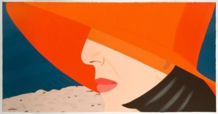 Alex Katz-Ada with Orange Hat / Orange Hat-1990