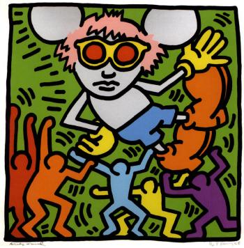 Keith Haring-Keith Haring - Andy Mouse #2-1986