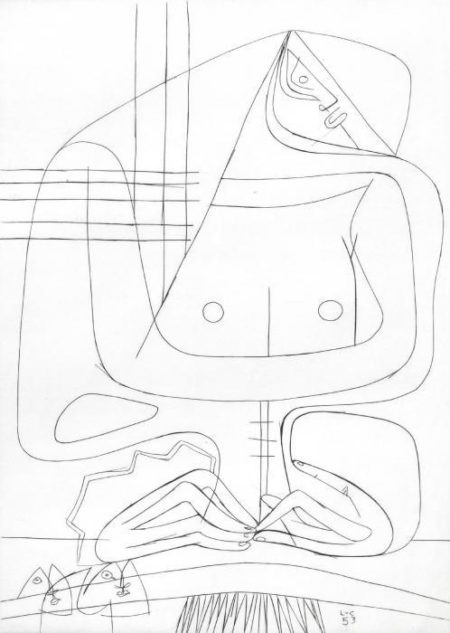 Le Corbusier-Four Sheets From Cinq Femmes (1953)-1953