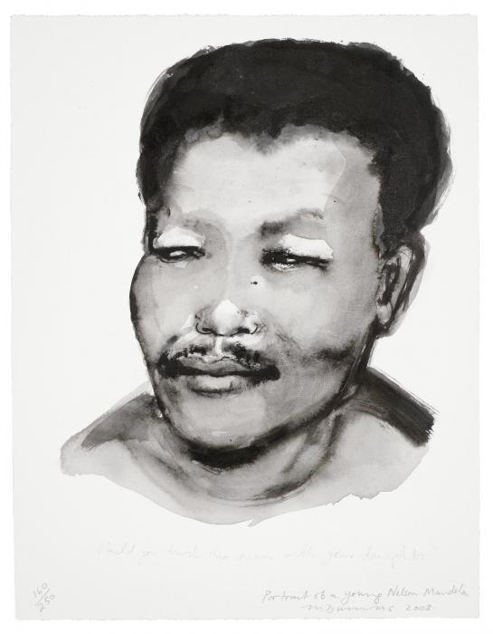Marlene Dumas-Portrait of a Young Nelson Mandela-2008