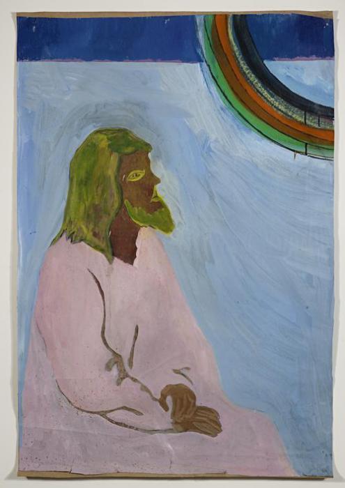 Peter Doig-Purple Jesus (Black Rainbow)-2004