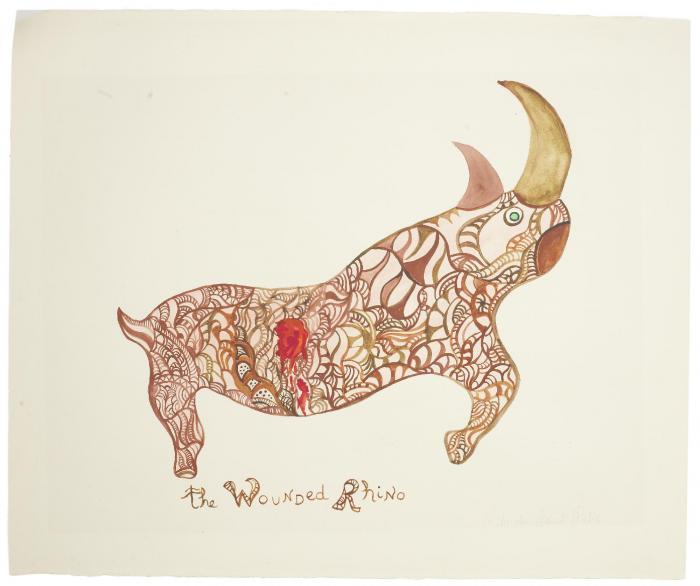 Niki de Saint Phalle-The Wounded Rhino-1988