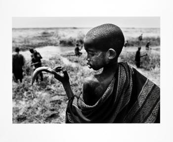 Sebastiao Salgado-Fishing in the Marshes of the Gel Canal, Southern Sudan-2006