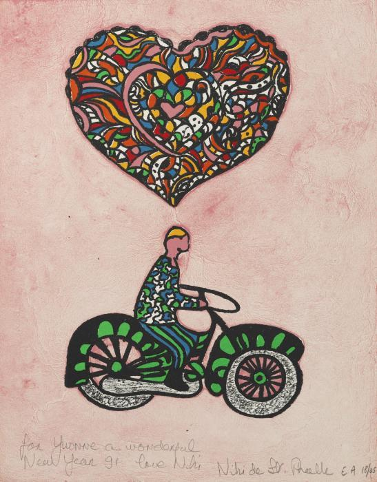 Niki de Saint Phalle-Untitled (Le motocycliste amoureux)-1991