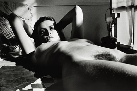 Helmut Newton-Fiona Lewis, Nude Lying, Los Angeles-1976