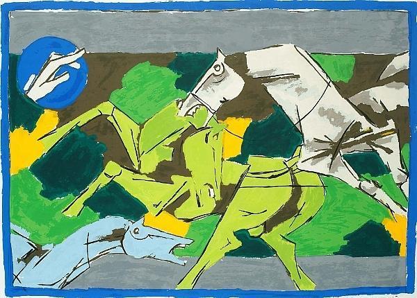 Maqbool Fida Husain-Horse-II-