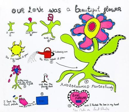 Niki de Saint Phalle-(i) Lettre d'amour; (ii) My love what shall I do if you die (iii) Why don't you love; (iv)You are my love forever; (v) Clouds - Rain; (vi) Our love was a beautiful flower; (vii) Hungry snake; (viii) Dragon; (ix), (x) Dear Diana-