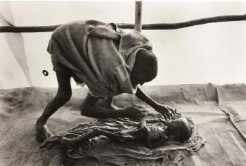Sebastiao Salgado-A Body Being Prepared for Burial, Korem Camp, Ethiopia-1984