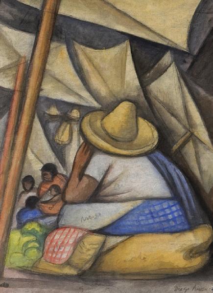 Diego Rivera-En el mercado-1934