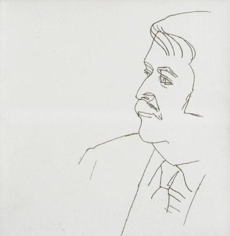 Alex Katz-Seated Man (M. 124)-1980