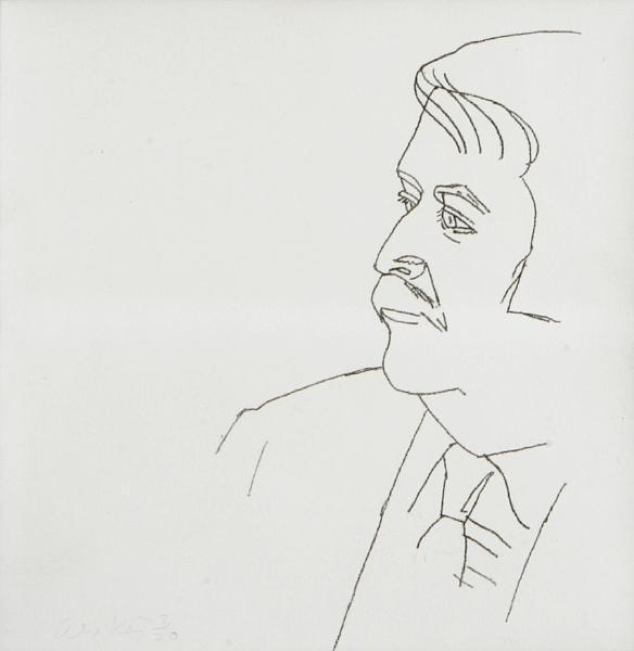 Alex Katz-Seated Man (M. 124)-1980