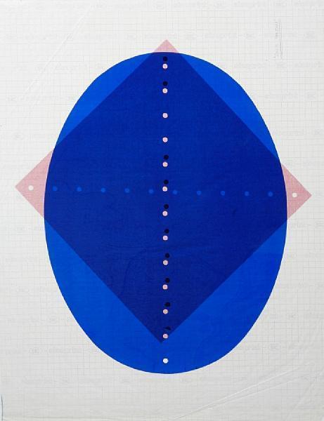 Lucio Fontana-Concetto Spaziale rosso/Concetto spaziale blu-1965