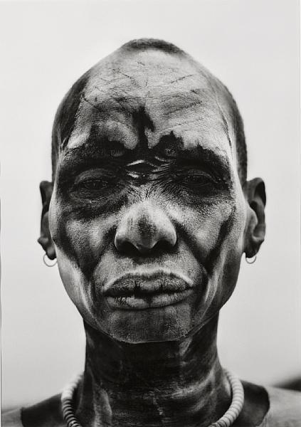 Sebastiao Salgado-Dinka Man at Cattle Camp of Kei, Southern Sudan-2006