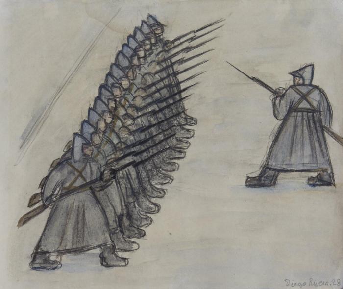 Diego Rivera-Soldados-1928