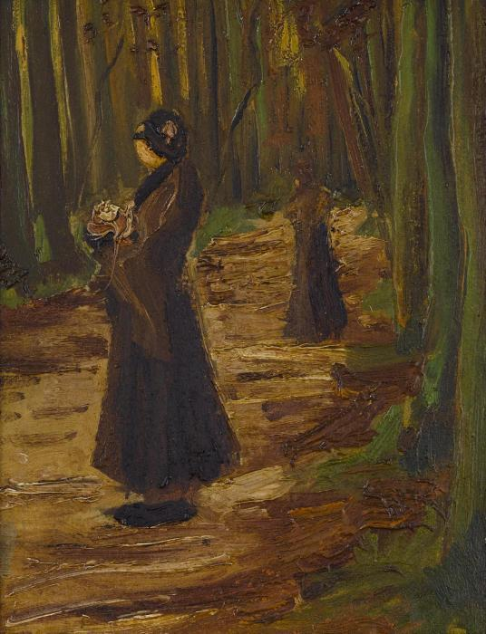Vincent van Gogh-Two women in a wood-1882