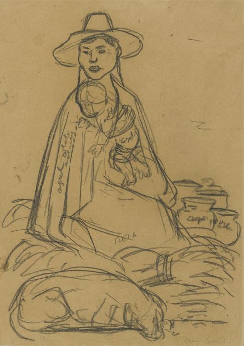 Diego Rivera-Mujer con nino-1943