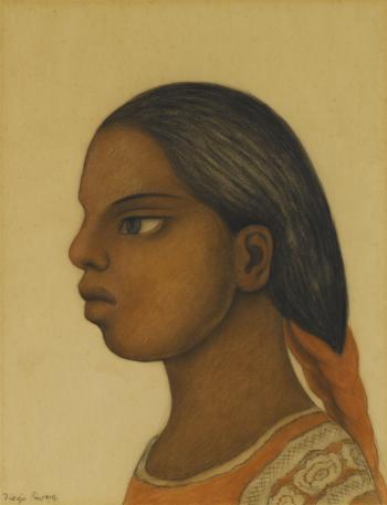 Diego Rivera-Cabeza de muchacha-