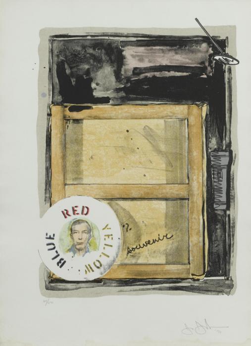 Jasper Johns-Souvenir (U.L.A.E. 104; F. 127), (ULAE 82)-1970