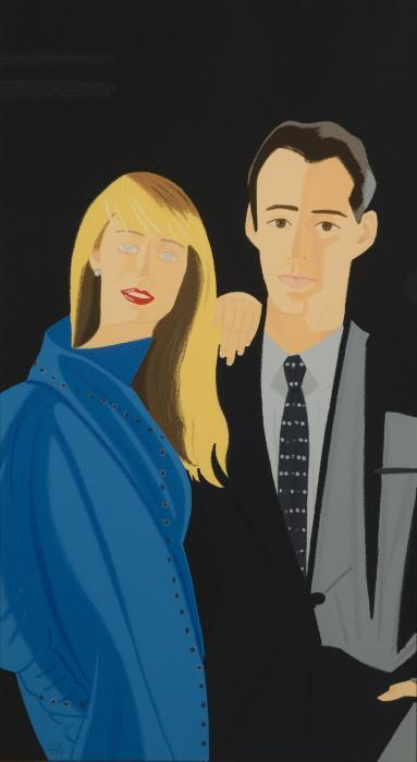 Alex Katz-David Salle and Janet Leonard-1995