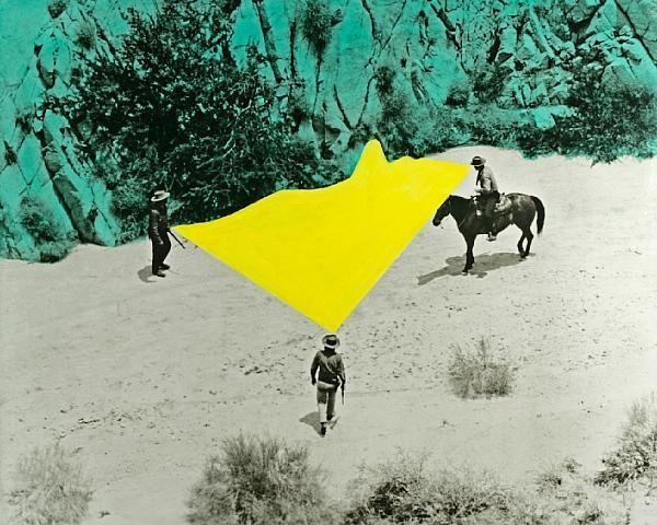 John Baldessari-Yellow Void with Three Figures-1990