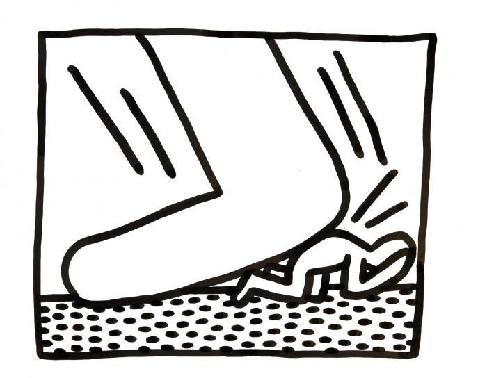 Keith Haring-Keith Haring - Untitled (Man Under Foot)-1982
