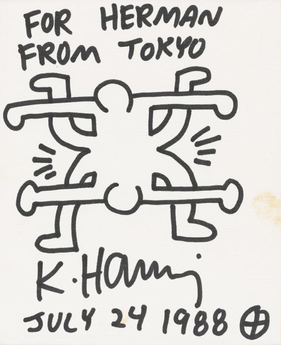 Keith Haring-Keith Haring - Untitled (Toyko Drawing)-1988