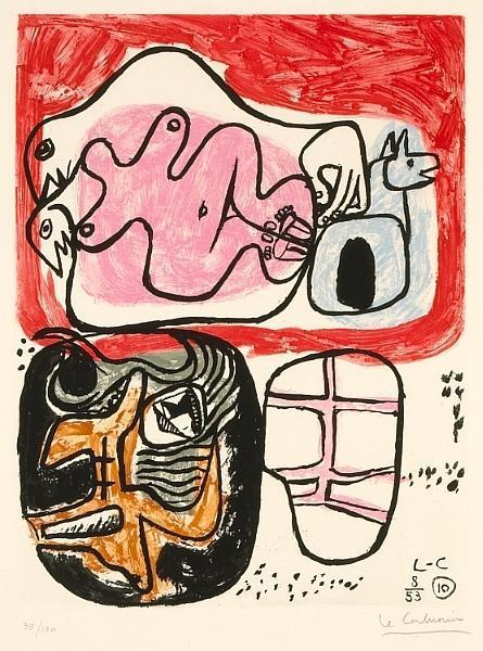 Le Corbusier-Pl. 10, from Unite-1953