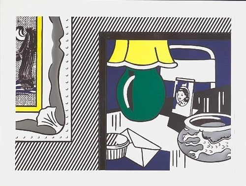 Roy Lichtenstein-Two Paintings: Gree Lamp-1984