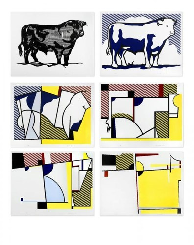 Roy Lichtenstein-Bull Profile Series-1973