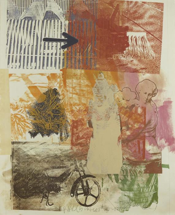 Robert Rauschenberg-Robert Rauschenberg - Untitled (Arrow)-1984