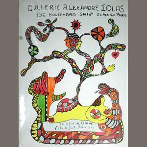 Niki de Saint Phalle-Le Reve de Diane, for Galerie Alexandre Iolas, Paris-1970