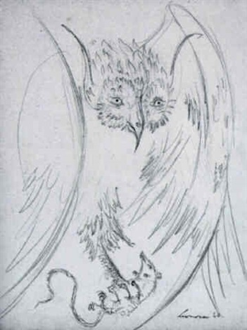 Leonora Carrington-Owl with Prey - Swan-1960