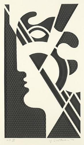 Roy Lichtenstein-Modern Head #5, from the Modern Head Series-1970