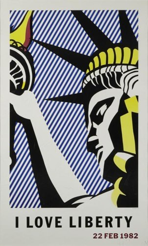 Roy Lichtenstein-I Love Liberty Poster-1982