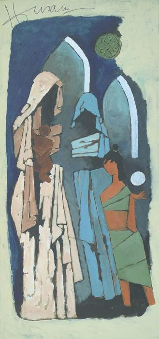 Maqbool Fida Husain-Mother Teresa-2000
